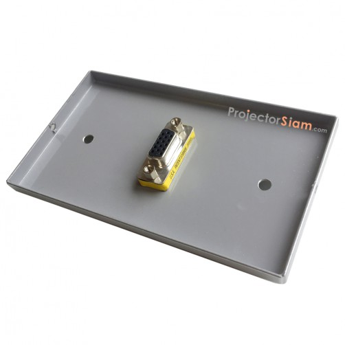 Wall Plate VGA Silver