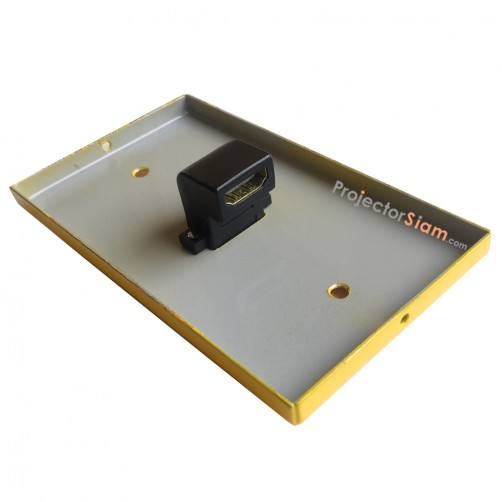 Wall Plate HDMI Yellow