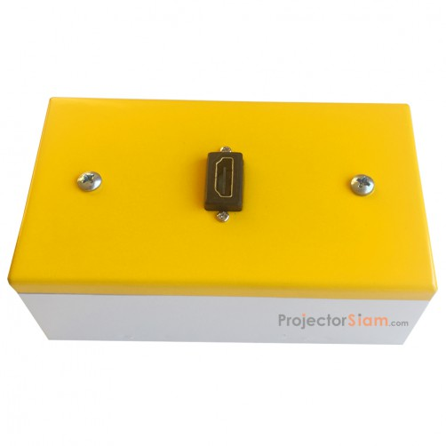 Wall Plate HDMI Yellow